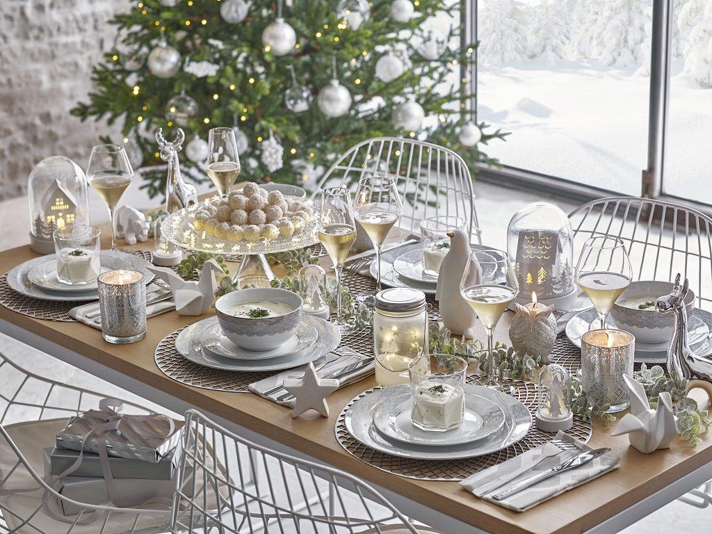 blanco MaisonduMonde 1024x768 - Feliz Navidad en fantásticas mesas de Nochebuena perfectas para disfrutar :) Felices Fiestas