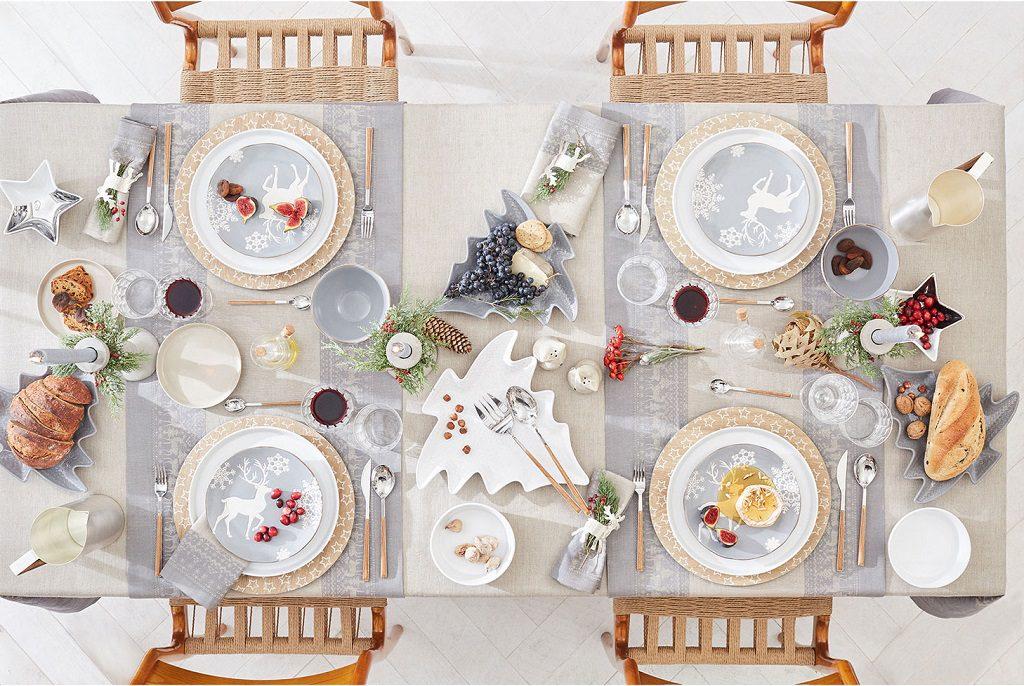 blanco ZaraHome 1024x686 - Feliz Navidad en fantásticas mesas de Nochebuena perfectas para disfrutar :) Felices Fiestas