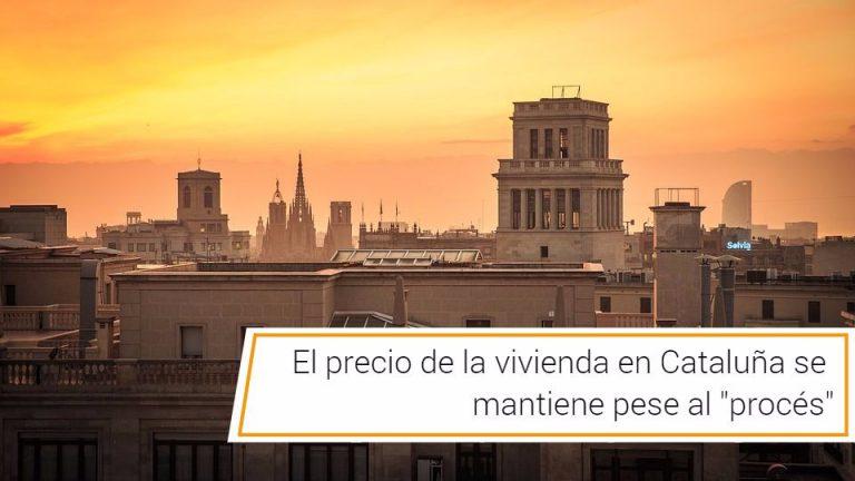 El precio de la vivienda en Cataluña se mantiene pese al «procés»
