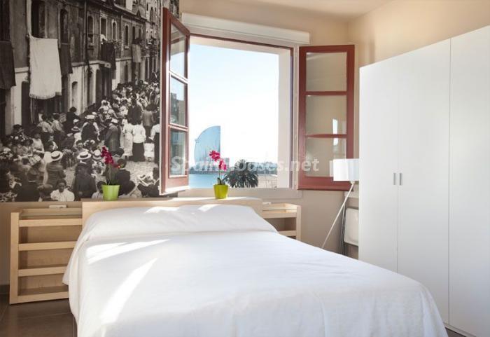 cama - Casa de la semana: Coqueto estudio lleno de luz en la playa de la Barceloneta, Barcelona