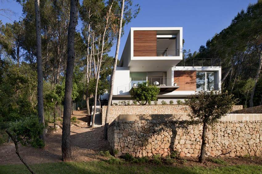 Diseño modular y mediterráneo en una genial casa en Pollensa (Mallorca, Baleares)
