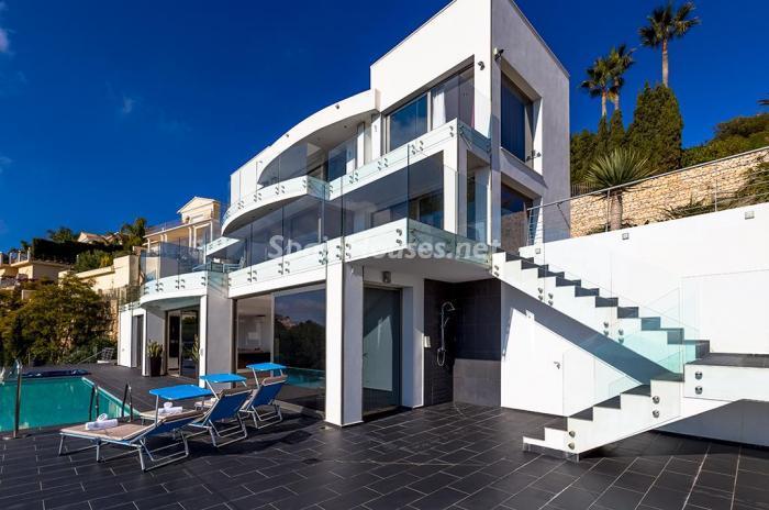 casa 3 - Blanca y sofisticada villa de vacaciones en Moraira (Costa Blanca): luz y diseño frente al mar