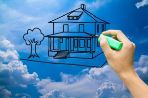 casa nube 300x199 - El 3,8% de los españoles planean comprar vivienda en el 2014, casi el doble que en el 2012