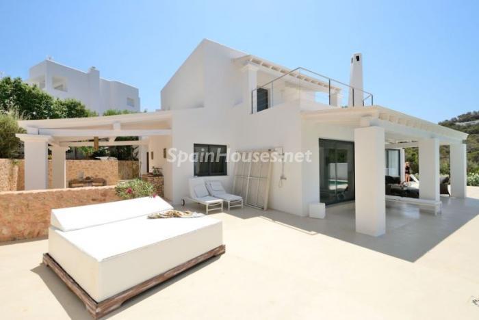 casa119 - Fantástica villa en Cala Vadella (San José, Ibiza): blanca, luminosa y mediterránea