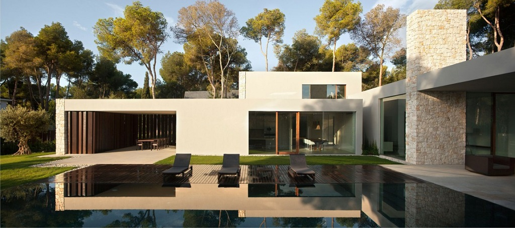 casa el bosque chiva valencia dise o moderno con On meuble casa moderna jardin d el menzah