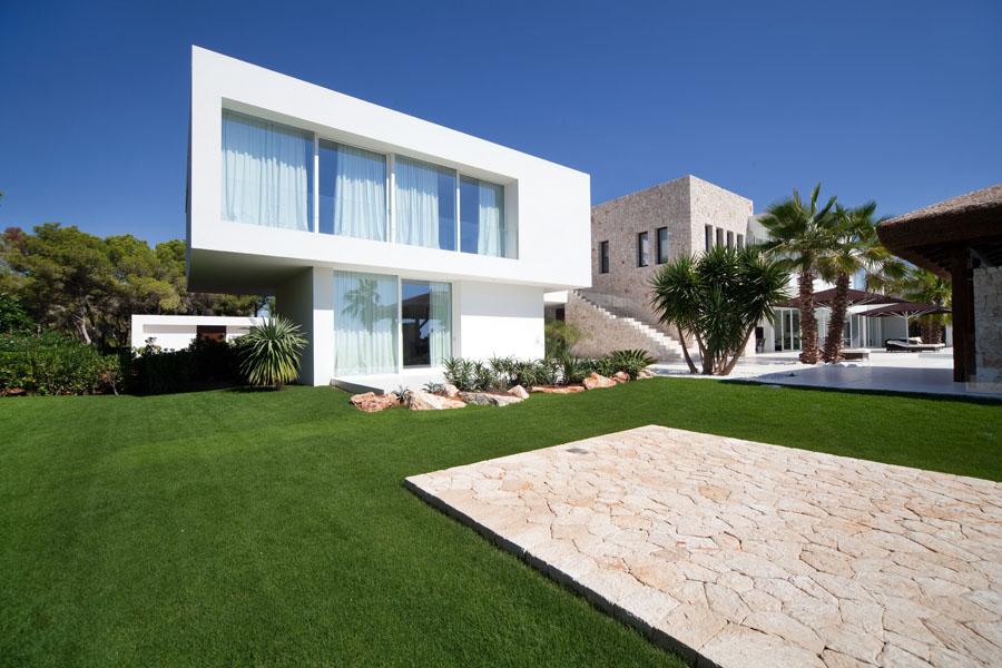 casaexterior - Espectacular y luminosa casa de diseño frente al mar en Cala d'Or, Santanyí (Mallorca)