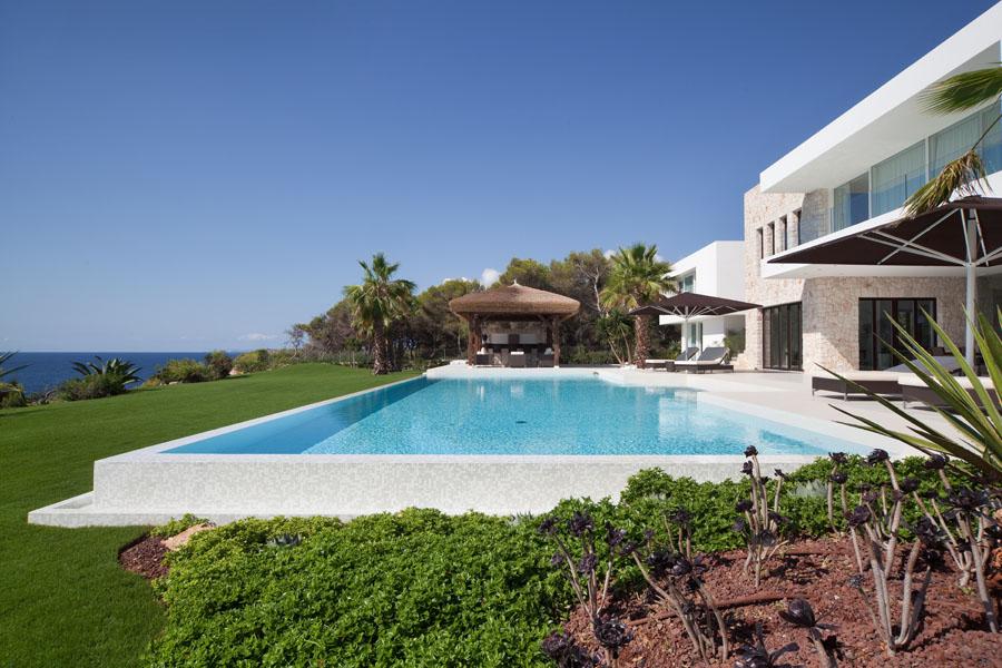 casapiscinaymar - Espectacular y luminosa casa de diseño frente al mar en Cala d'Or, Santanyí (Mallorca)