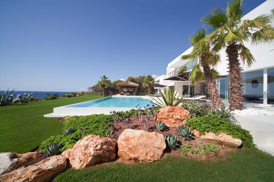 casapiscinaymar1 - Espectacular y luminosa casa de diseño frente al mar en Cala d'Or, Santanyí (Mallorca)
