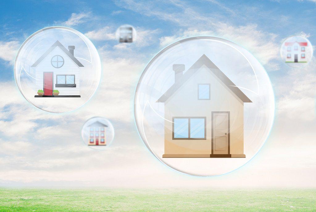 casas burbuja 1024x688 - Indicadores y claves que miden si hay o no burbuja inmobiliaria