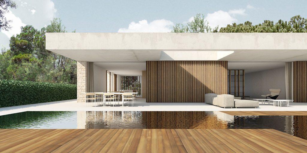 casaypiscina 13 1024x512 - En La Cañada, casa contemporánea y minimalista a 5 km de Valencia
