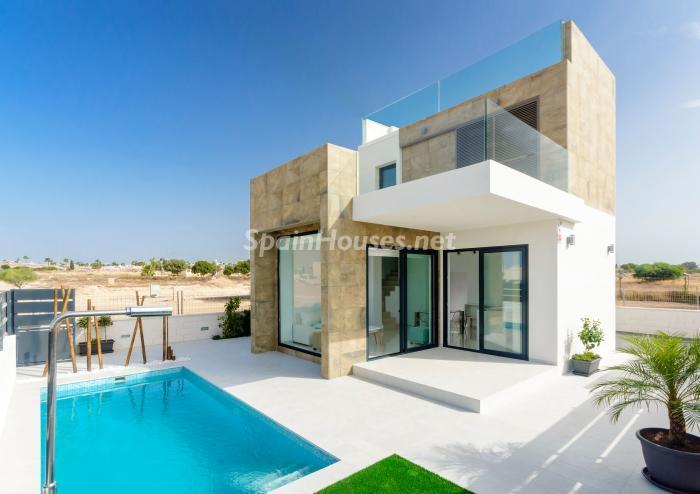 casaypiscina16 - Coqueta y luminosa casa de diseño en Guardamar del Segura (Costa Blanca, Alicante)