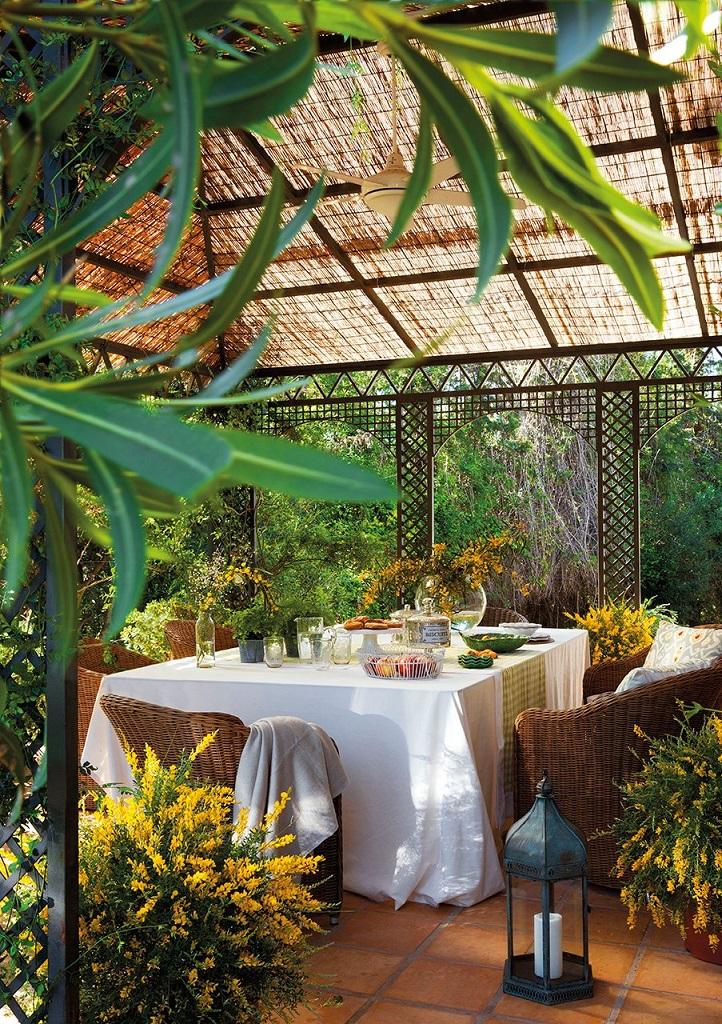 cenador - Las Mimosas, una casa llena de encanto en San Pedro Alcántara (Marbella, Costa del Sol)