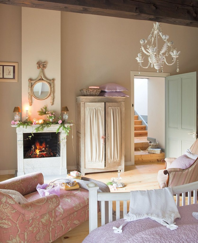 chimenea 2 836x1024 - Nochevieja y Año Nuevo en una casa perfecta para una fiesta campestre y romántica