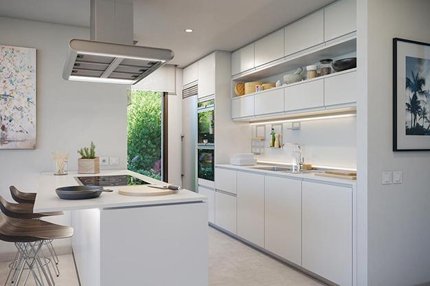 cocina 1 5 - Villa de lujo en Málaga: diseño moderno con vistas al Mar Mediterráneo