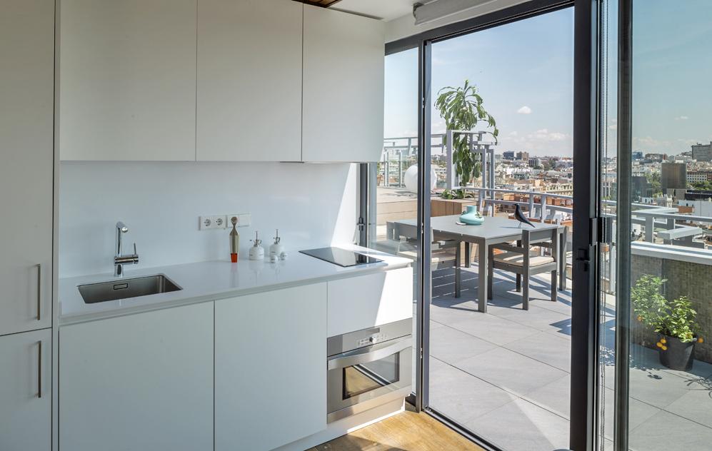 cocina 28 - Espectacular ático con piscina en Chamberí: como un chalet bajo el cielo de Madrid