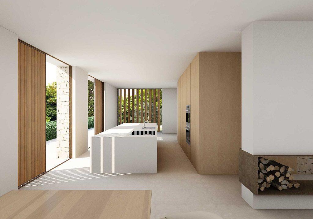 cocina 52 1024x716 - En La Cañada, casa contemporánea y minimalista a 5 km de Valencia
