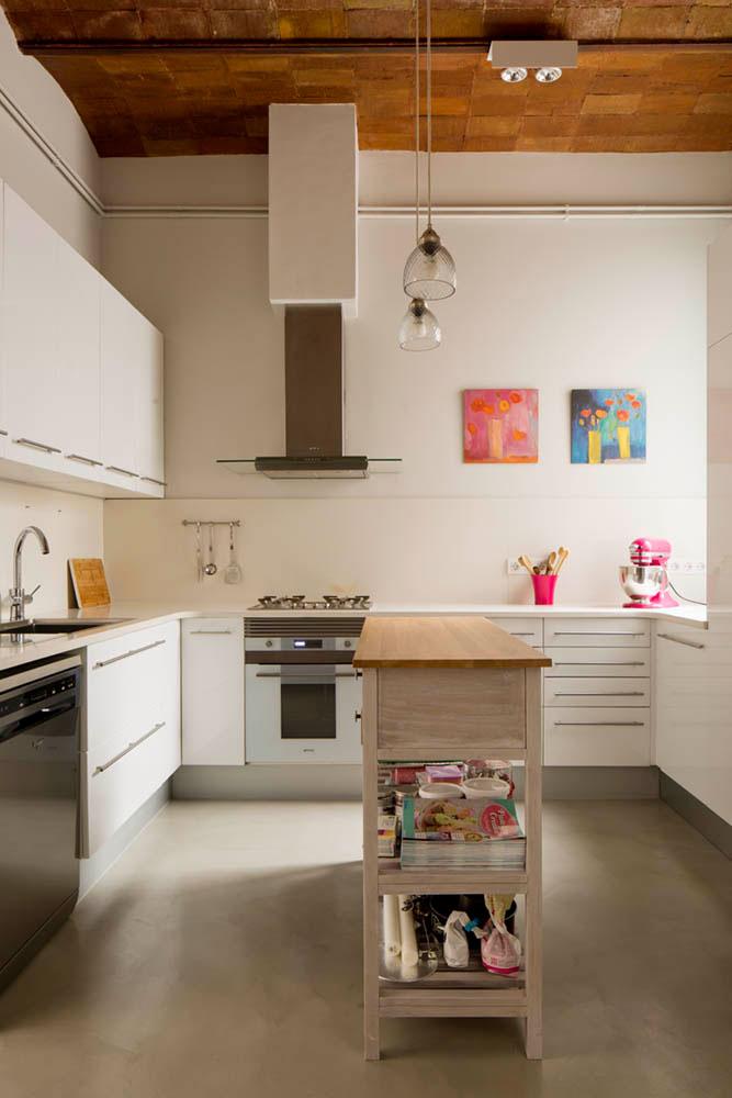 """cocina 74 - Toque """"Art Novou"""" con jardín en una elegante casa modernista en Barcelona"""