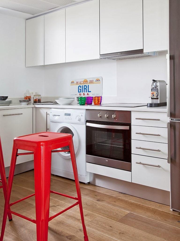 """cocina 768x1024 - Toque """"trendy"""" en Madrid, en un precioso loft cálido, femenino y moderno"""