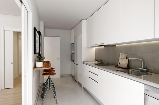 cocina el limonar - Este piso de lujo en Málaga te atrapará por su diseño moderno y atractivo