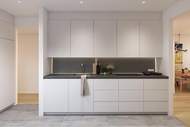 cocina piso lujo barcelona - Este apartamento de lujo en Barcelona lo tiene todo: amplitud, ambientes modernos y terraza privada