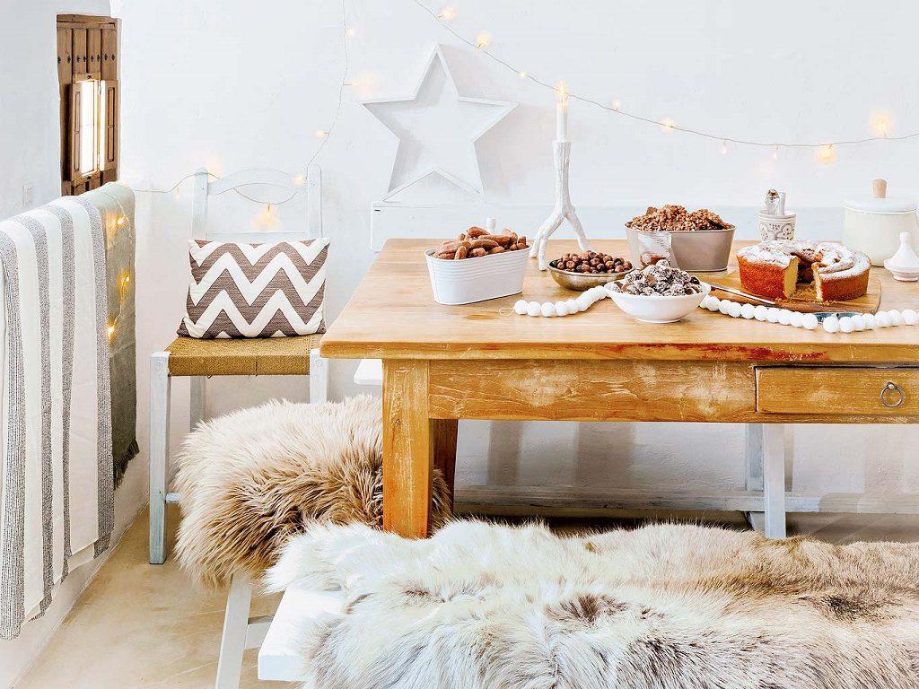 cocina1 15 1024x768 - Navidad blanca, sutil y nórdica en un cortijo andaluz de ensueño en Málaga