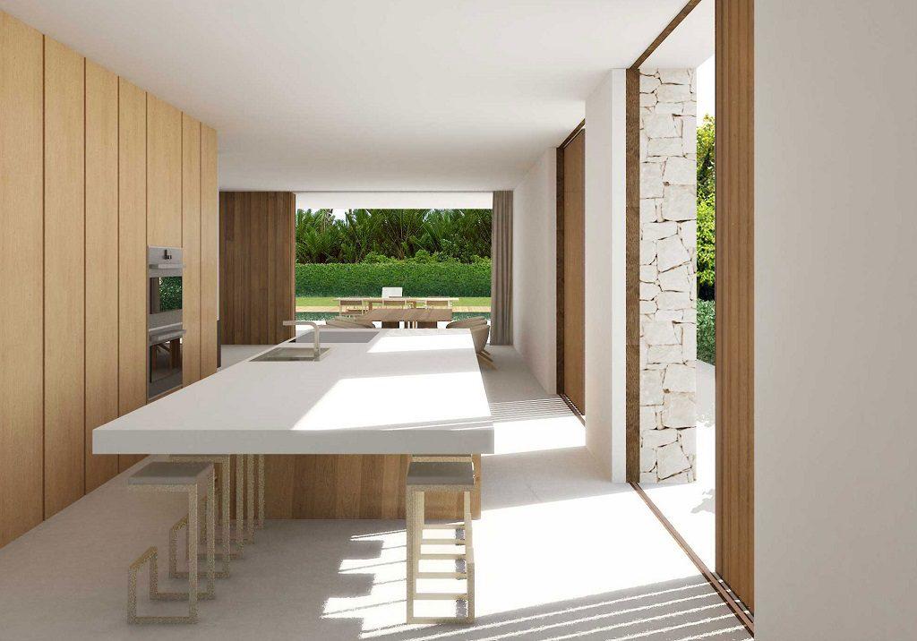 cocina1 18 1024x716 - En La Cañada, casa contemporánea y minimalista a 5 km de Valencia