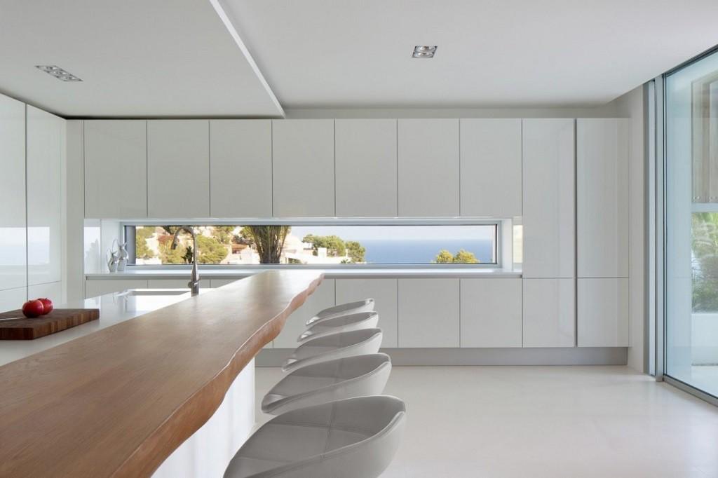 cocina1 3 1024x682 - Espectacular y moderna villa en Roca LLisa (Ibiza): sereno minimalismo con vistas