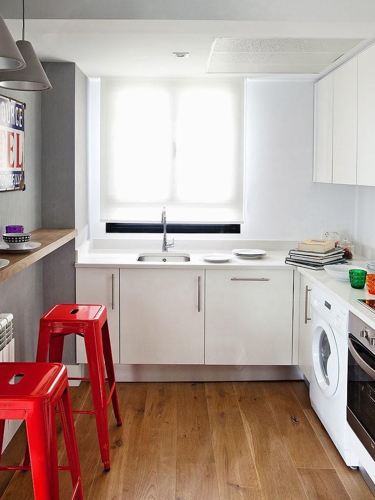 """cocina1 768x1024 - Toque """"trendy"""" en Madrid, en un precioso loft cálido, femenino y moderno"""