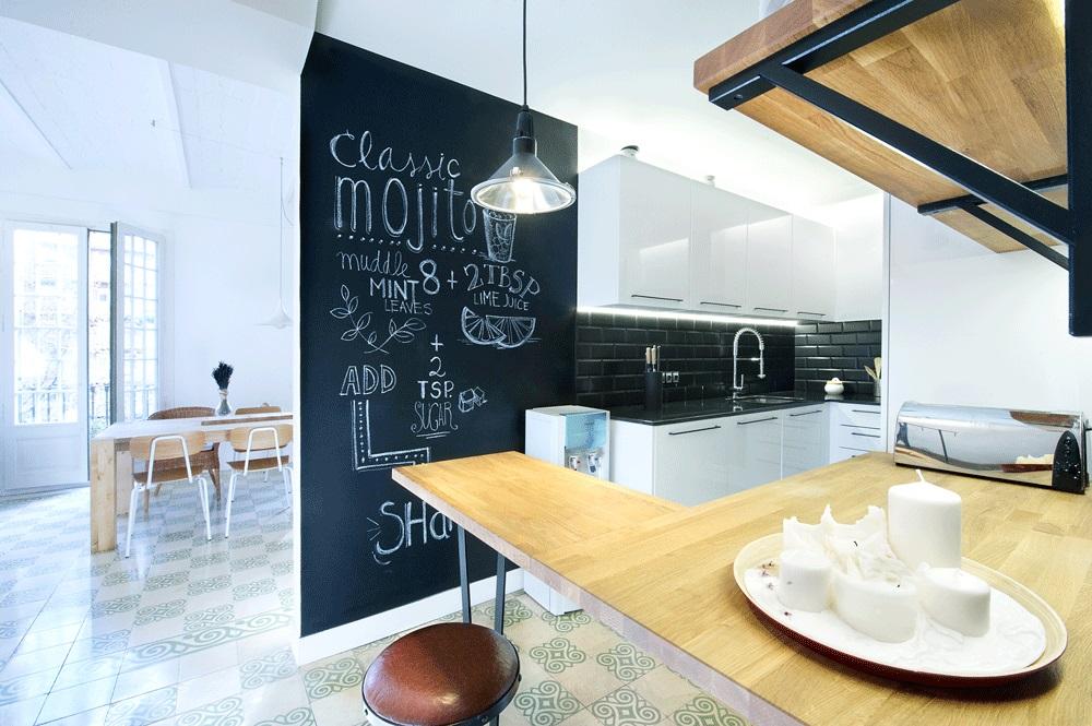 cocina110 - 75 metros de elegante armonía, amplitud y luz en un apartamento de Barcelona