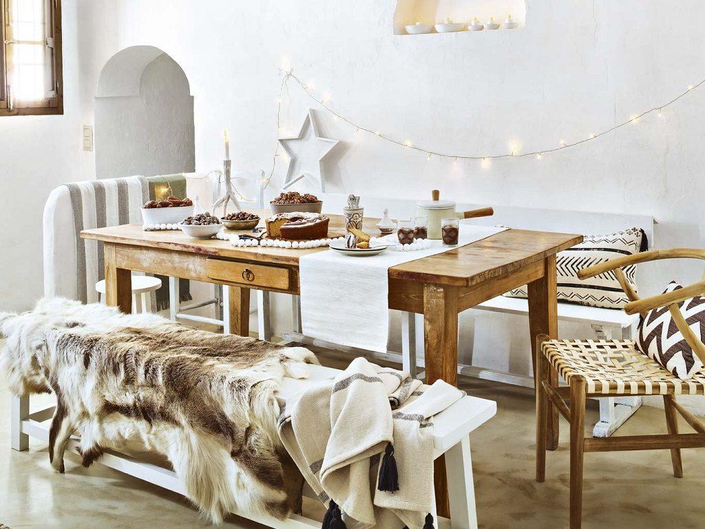 cocina2 8 1024x768 - Navidad blanca, sutil y nórdica en un cortijo andaluz de ensueño en Málaga