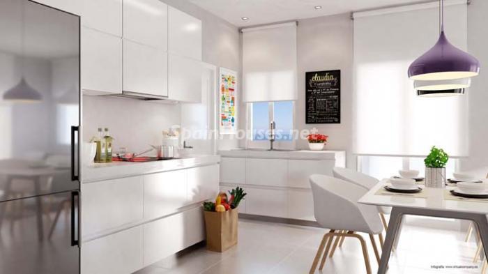 cocina26 - Bonito piso de nueva construcción en Santa Pola, Calas Santiago Bernabéu (Costa Blanca)