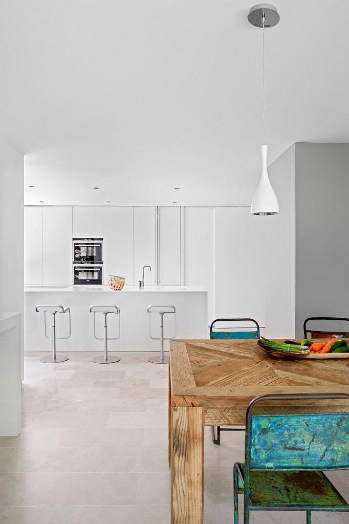 cocina65 - Genial toque otoñal y minimalista en una fantástica casa en La Moraleja (Alcobendas, Madrid)