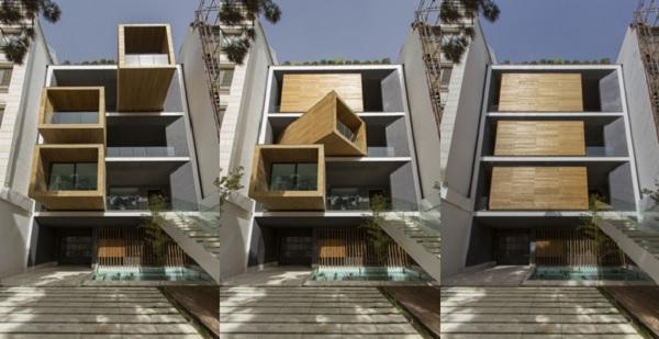 combinacion - Casa Sharifi-ha, una fantástica vivienda que gira buscando el sol