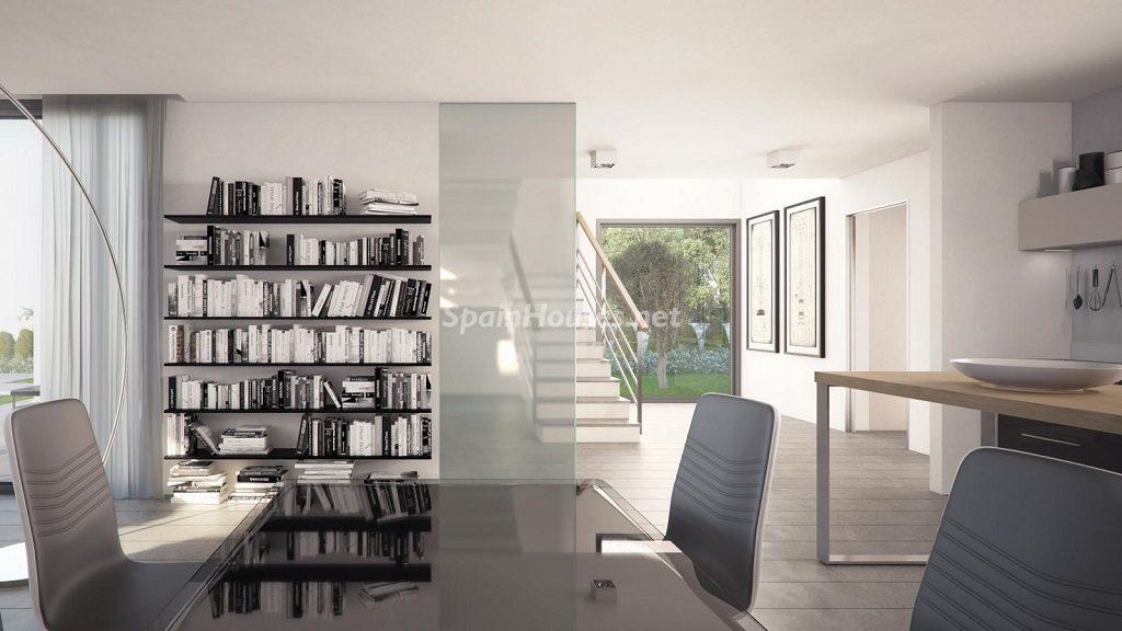 comedor 34 1024x576 - Buena Vista Hills, 26 villas modernas con vistas al mar en Mijas (Costa del Sol, Málaga)
