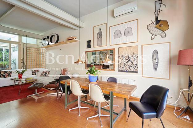 comedor barcelona - Este amplio apartamento con piscina en Barcelona es ideal para descansar y disfrutar de la ciudad