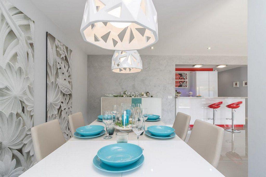 comedor cocina 9 1024x683 - Preciosa casa de diseño en Orihuela Costa (Costa Blanca), en 2ª línea de playa