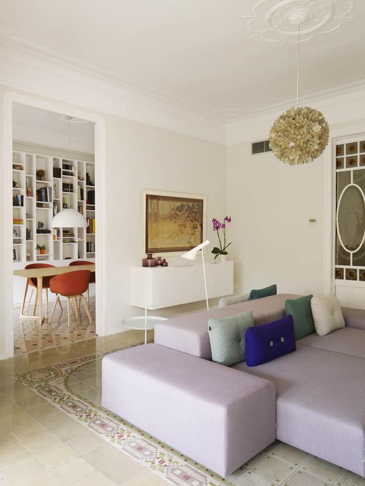 """comedor salon 4 - Toque """"Art Novou"""" con jardín en una elegante casa modernista en Barcelona"""
