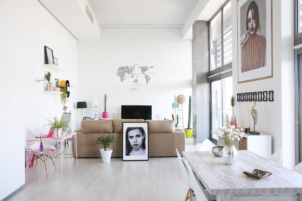 comedor salon - Apartamento en Valencia: ecléctico, moderno y con geniales toques de color