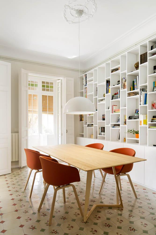 """comedor1 11 - Toque """"Art Novou"""" con jardín en una elegante casa modernista en Barcelona"""