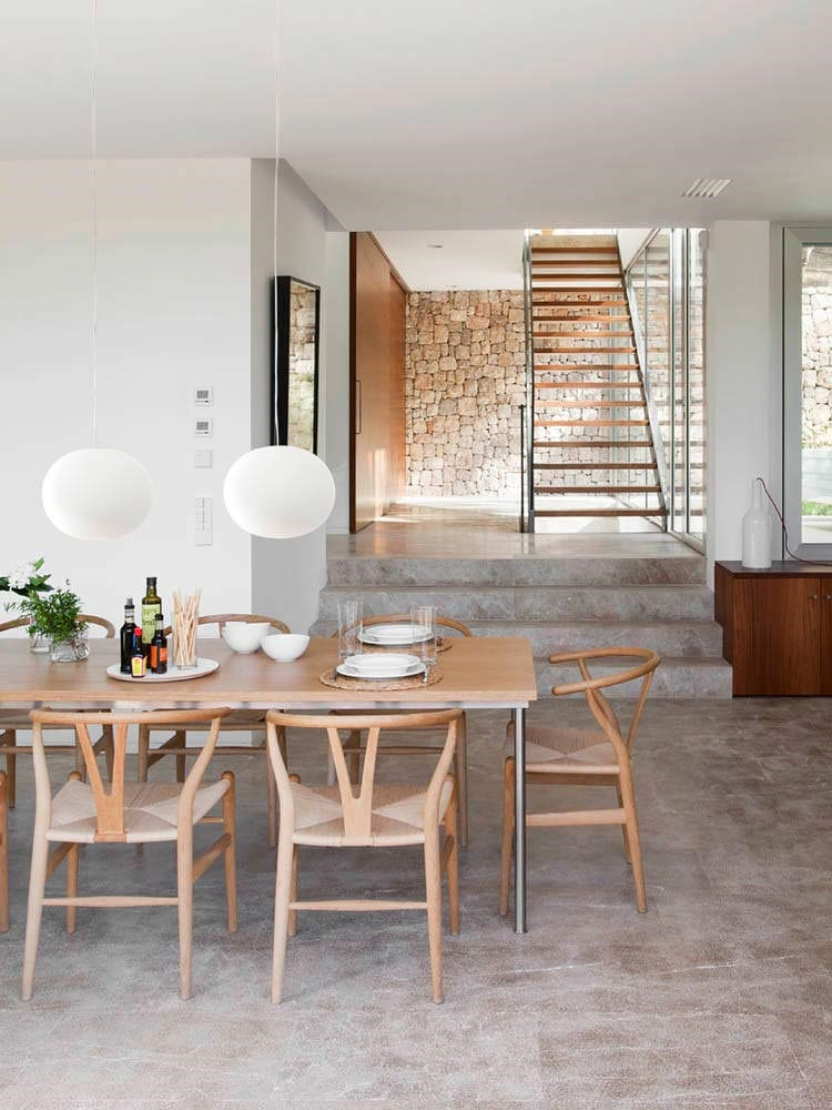 comedor1 12 - Diseño modular y mediterráneo en una genial casa en Pollensa (Mallorca, Baleares)