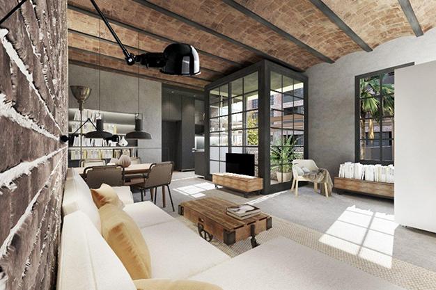 comedor1 13 - Moderno apartamento en el centro de Barcelona para los que buscan un estilo único
