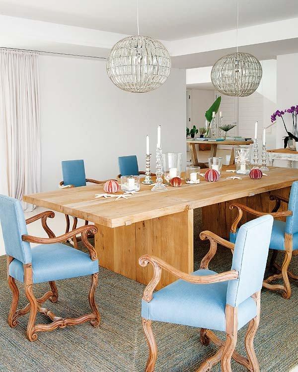 comedor7 - Toques de azul turquesa en una genial casa en Sotogrande (Costa de la Luz, Cádiz)