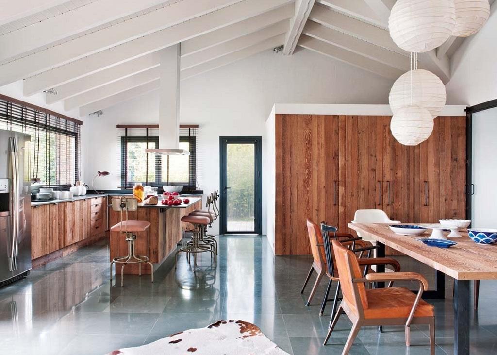 comedorycocina - Esencia cálida en espacios diáfanos: la casa que soñó ser un loft en contacto con la naturaleza