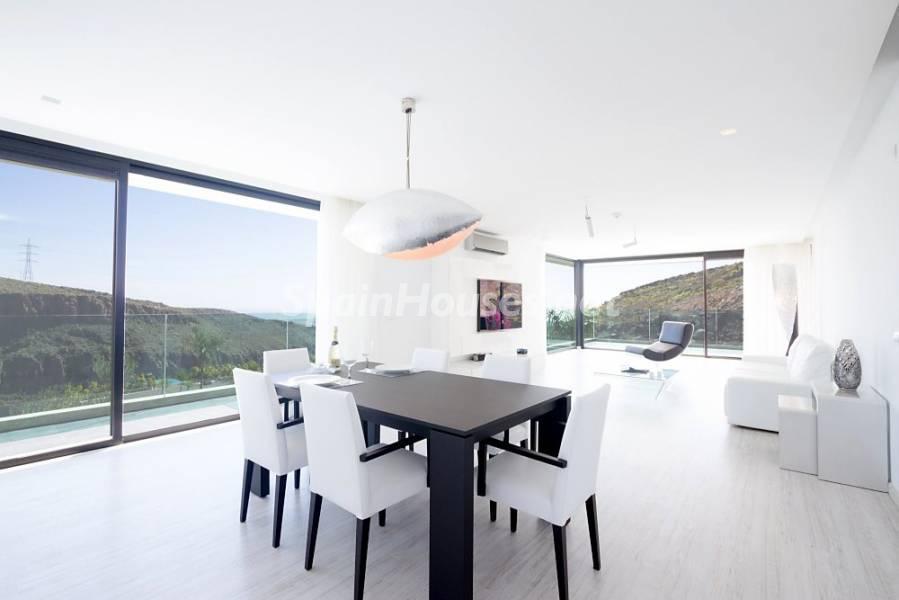 comedorysalon 1 - Fantástica casa de diseño moderno en Monte León, San Bartolomé de Tirajana (Las Palmas)