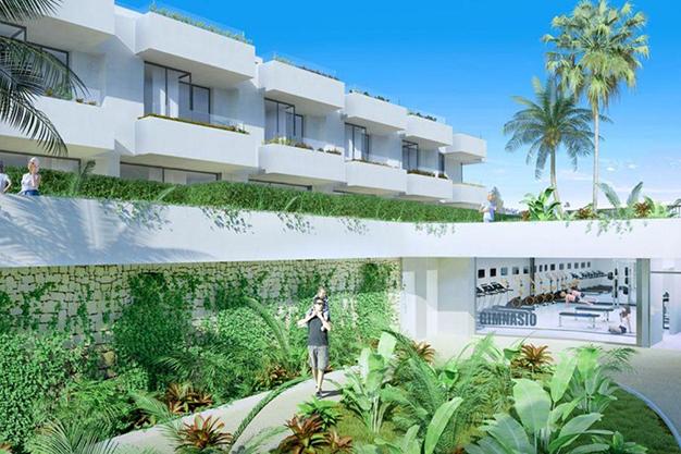 complejo - Espectacular chalet adosado en Fuengirola: altas calidades, terrazas y jardín