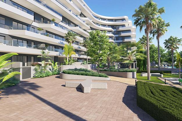 comunidad - Moderno apartamento en Málaga, primera línea de playa