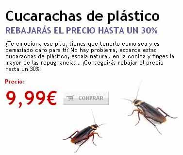 cucarachas plastico1 - El precio de la vivienda libre frena su caída al 4,6%