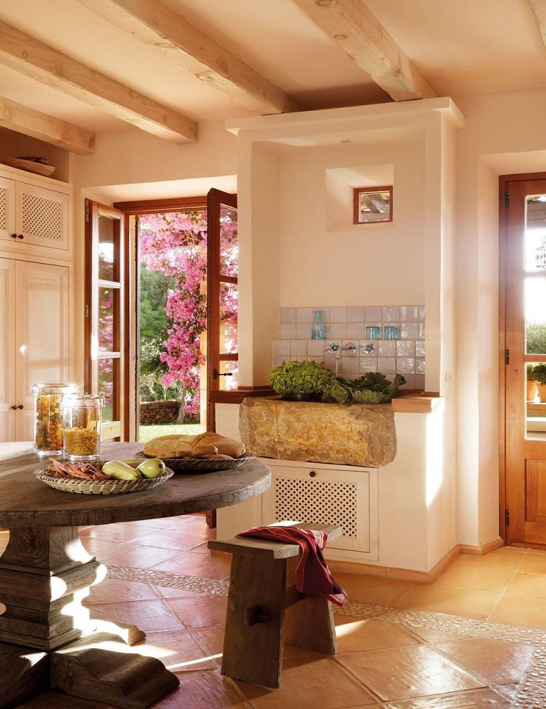detalle cocina1 - Paraíso de luz y buganvillas en una preciosa casa en Santanyí (Mallorca, Baleares)
