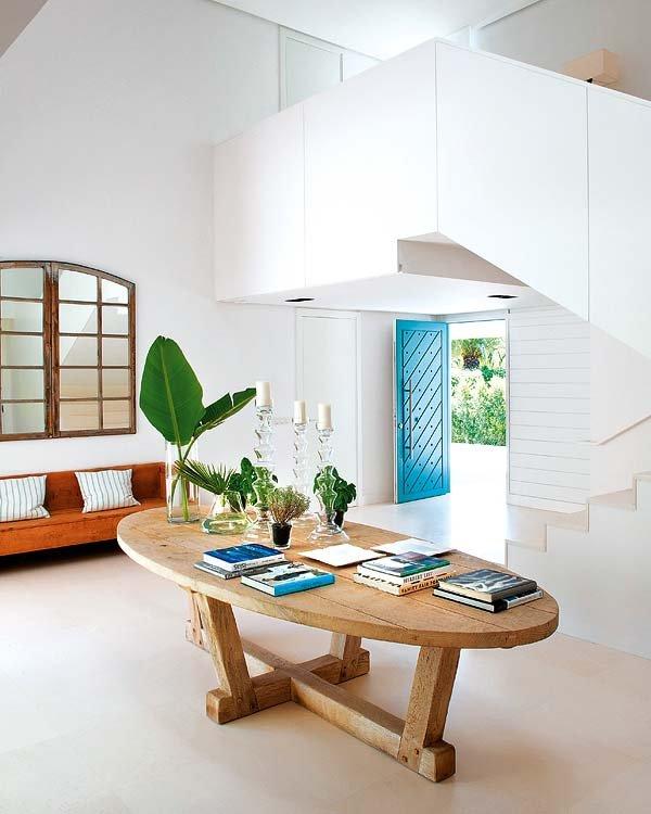 detalle entrada - Toques de azul turquesa en una genial casa en Sotogrande (Costa de la Luz, Cádiz)