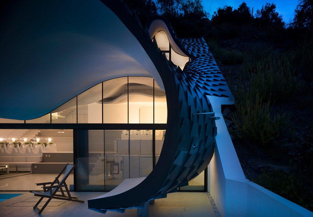 detalle exterior1 6 1024x712 - Casa modernista en Salobreña (Granada) o dragón imponente que se asoma al mar
